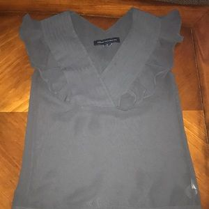 Sheer French Connection dove gray blouse